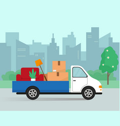 Moving in new house or office vector