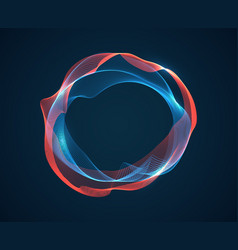 music circle wave sound beat ripples emit waves vector image
