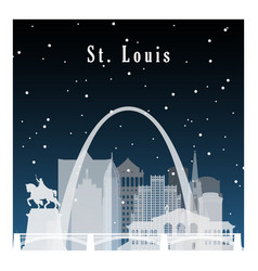 Nightlife and starry sky in st louis vector