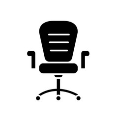 Office wheels chair silhouette from side view vector