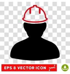 Person In Hardhat Eps Icon vector