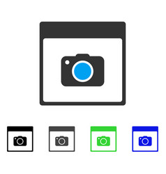 Photo camera calendar page flat icon vector