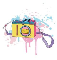 Photo Camera Hand drawn vector image