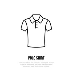 polo shirt icon clothing shop line logo flat vector image