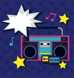 Pop art cartoon radio vector
