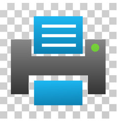 Printer gradient icon vector