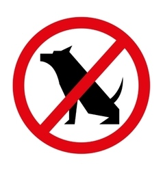 prohibited dogs isolated icon design vector image