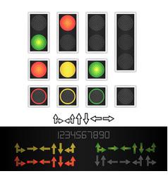 Road traffic light realistic led panel vector