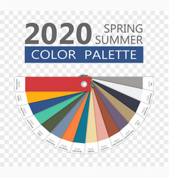 round spring and summer 2020 colors palette vector image