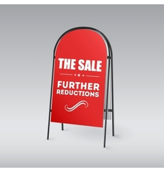 Sandwich board with an inscription The sale vector image