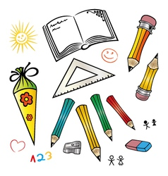 School design elements vector
