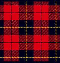 Scottish plaid in red black yellow wallace vector