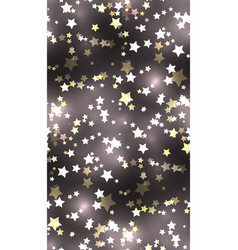 seamless texture with stars and sparks vector image vector image
