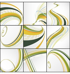 set of abstract lines vector image