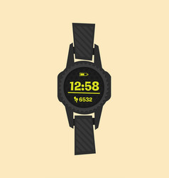 smartwatch wearable technology flat icon vector image