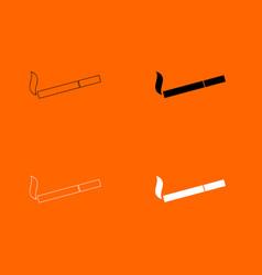 Smoking symbol cigarette icon vector