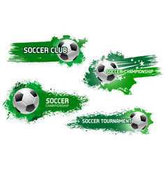 soccer ball flying with star for football design vector image