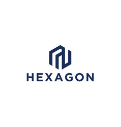 sophisticated and unique hexagon initials logo vector image