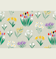 spring colorful pattern on a green background with vector image