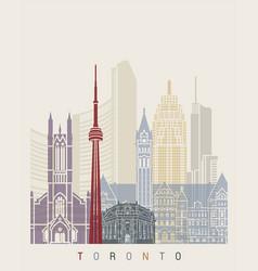 Toronto skyline poster vector