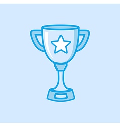 Trophy Icon Simple Blue vector