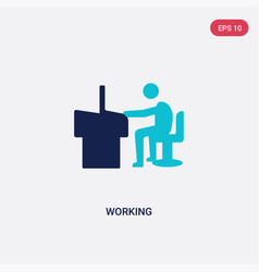 two color working icon from human resources vector image