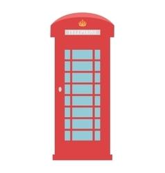 United Kingdom Telephone Box London public call vector image