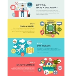 Vocation summer travel infographic Summer vector image