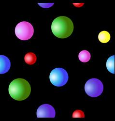 volumetric multicolored balls vector image