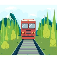 Wagons In Forest Tourism and Journey Symbol vector image