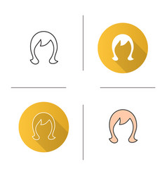 Wig icon vector