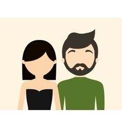 young fashionable faceless heterosexual couple vector image