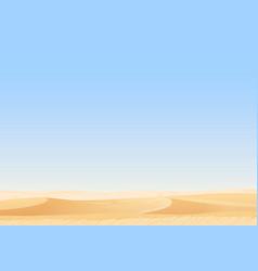 empty sky desert dunes egyptian landscape vector image vector image