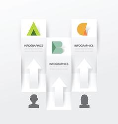 Modern infographic banner design template vector