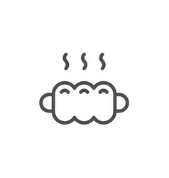 sausage in dough line icon vector image
