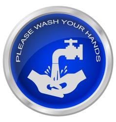 WASH HANDS vector image vector image