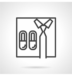 Work at home line icon vector image
