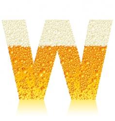 alphabet beer w vector image