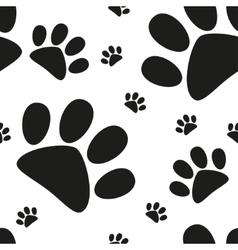 Cartoon cat paw seamless pattern vector image
