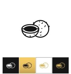 Coconut or coco palm nut icon vector
