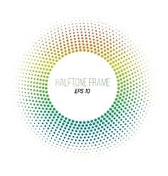 color halftone dotted frame Round banner Stock vector image vector image