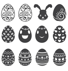 Easter Eggs Icons and Set vector image vector image