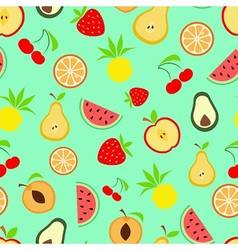 Exotic summer fruits vector image vector image