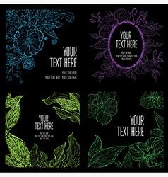 floral back big set 3 grunge vector image vector image