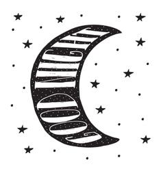 Good night modern lettering poster vector image