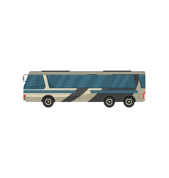 passenger bus isolated icon vector image vector image