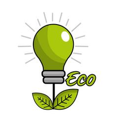 saving planet bulbs icon vector image