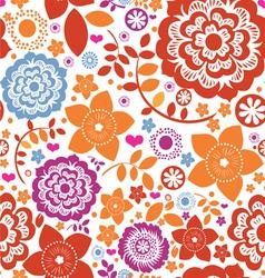 seamless flower paradise vector image