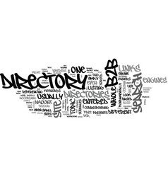 bb directory text word cloud concept vector image