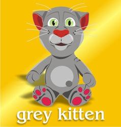 grey kitten vector image vector image